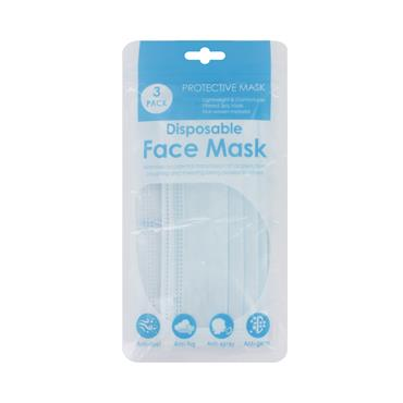 PPE 3 Pack 3 Ply Face Masks
