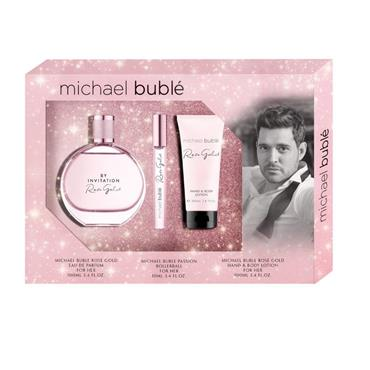 Michael Buble by Invitation Rose Gold Gift Set