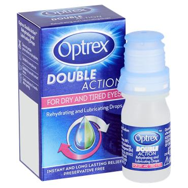 Optrex Double Action Rehydrating And Lubricating Drops 10 Ml