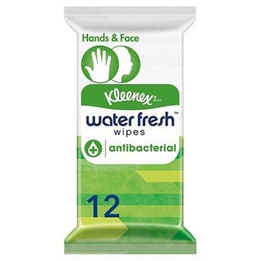 Kleenex Water Fresh Antibacterial Wipes 12 Pack