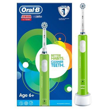 Oral B Junior Rechargeable Green Toothbrush Age 6 plus |ORAJUNIORGRE