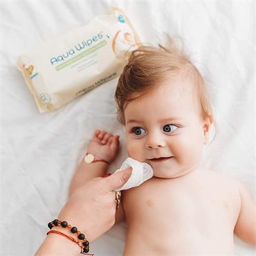 Aqua Wipes 100% Biodegradable Baby Wipes 64 Pack