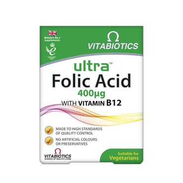 Vitabiotics Ultra Folic Acid 60 Tablets