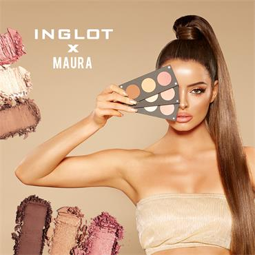 Inglot Cosmetics X Maura Contour & Highlight Palette Glam & Glow Trio Light