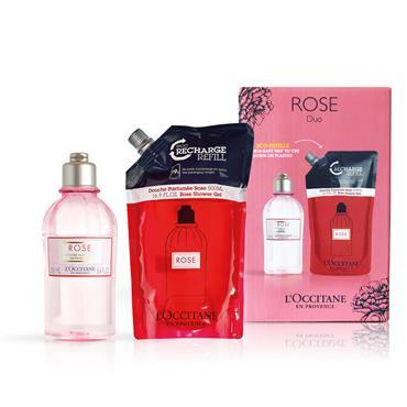 L'Occitane Rose Shower Gel & Refill Duo
