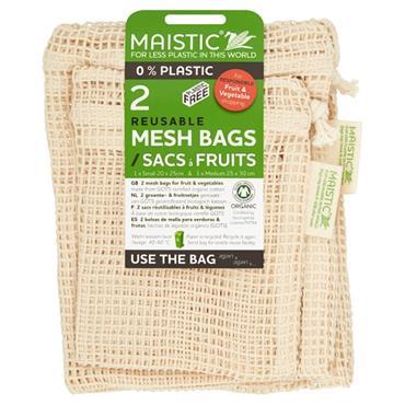 Maistic Cotton Fruit And Veg Bag 2Pce Small And Medium