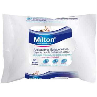 Milton Surface Wipes (30 Wipes)