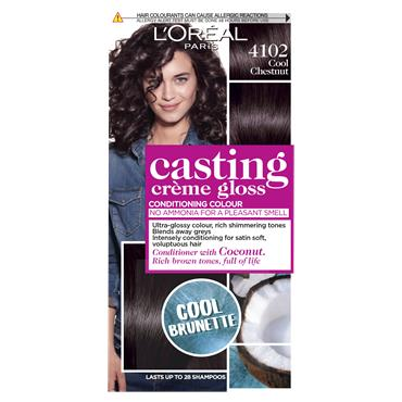 L'Oreal Paris Casting Creme Gloss 4102 Cool Chestnut Cool Brunette Brown Semi Permanent Hair Dye