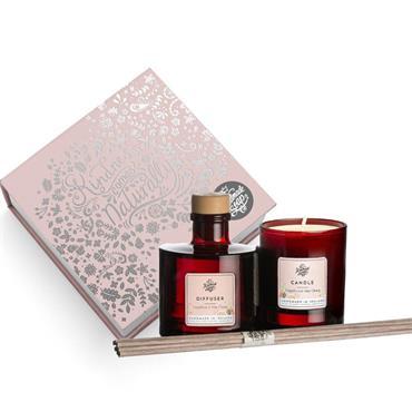 The Handmade Soap Company Grapefruit & May Chang Candle & Diffuser Gift Set