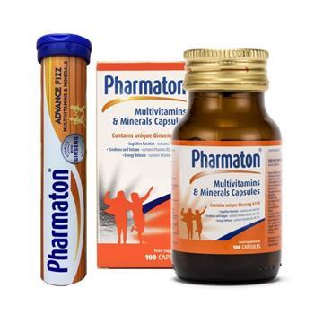 Pharmaton Multivitamin & Mineral Capsules + Free Advance Fizz