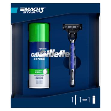 Gillette Mach3 Razor And Foam Series Gift Set