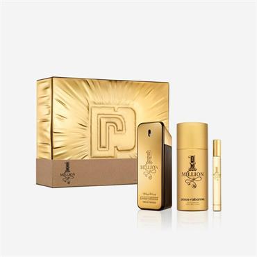 Paco Rabanne 1 Million 100ml Eau de Toilette + 10ml Eau De Toilette +Shower Gel 100ml Gift Set