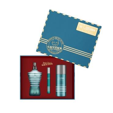 Jean Paul Gaultier Le Male 75ml Eau de Toilette + 150ml Deodorant Spray + 10ml Travel Gift Set