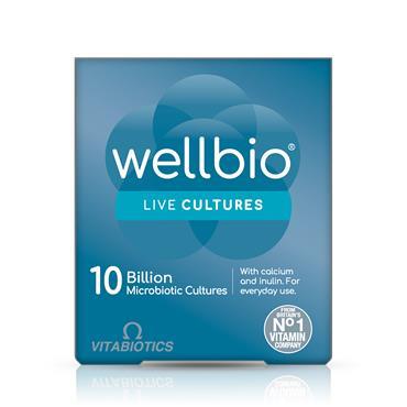 Vitabiotics Wellbio 10 billion Live Cultures 30 Capsules