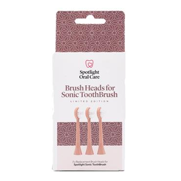 Spotlight Oral Care Rose Gold Sonic Toothbrush Replacement Heads