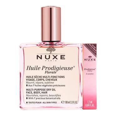 Nuxe Huile Prodigieuse Florale Dry Oil 100ml + Floral Le Parfum 1.2ml
