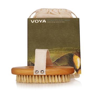 Voya Exfoliating Body Brush & Organic Pouch