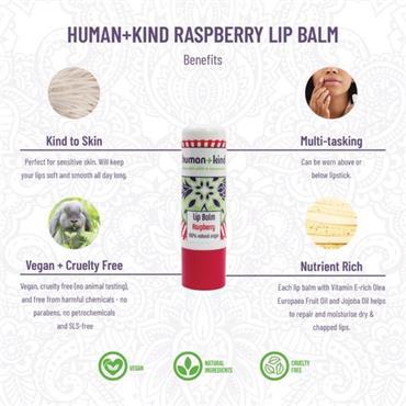 Human + Kind Lip Balm Raspberry