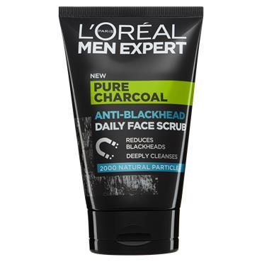 L'Oreal Paris Men Expert Pure Charcoal Anti-Blackhead Daily Face Scrub 100ml