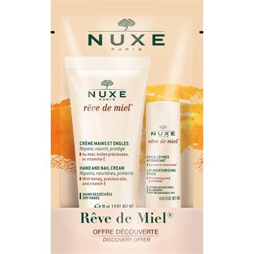 Nuxe Reve De Miel Hand And Lip Duo 50Ml + Stick 4G