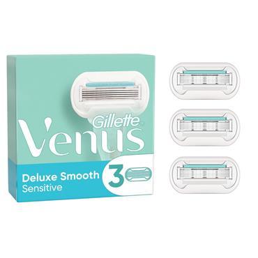 Gillette Venus Deluxe Smooth Sensitive Blades (3 Pack)