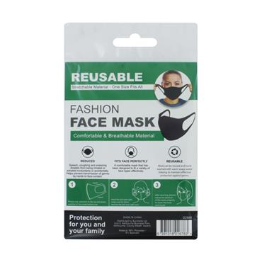 PPE Reusable Face Mask Polyester Black