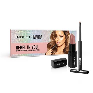 Inglot Cosmetics X Maura Rebel in You Lipstick and Liner Set