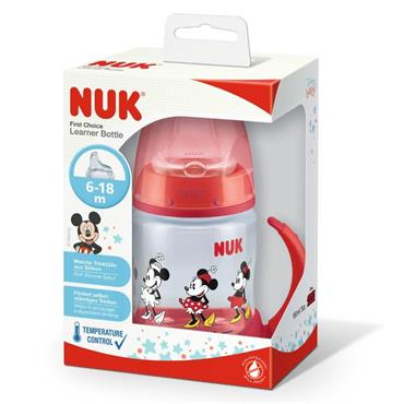 NUK Disney Minnie Mouse First Choice Learner Bottle with Temperature Control 150ml 6-18 months