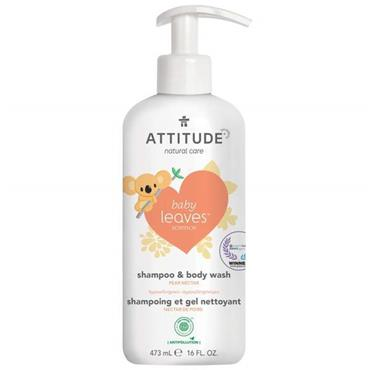 Attitude Baby Leaves 2-In-1 Shampoo and Body Wash Pear Nectar 473ml
