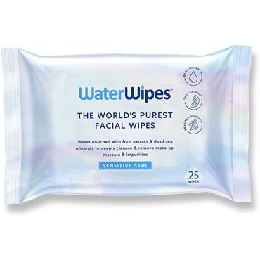 WaterWipes Sensitive Cleansing Facial Wipes 25 Wipes