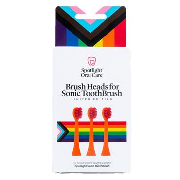 Spotlight Oral Care Pride Sonic Toothbrush Replacement Heads