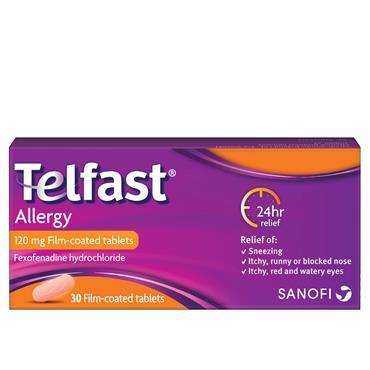 Telfast Allergy 120mg film-coated 30 Tablets