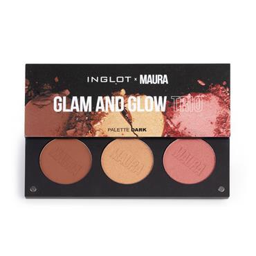 Inglot Cosmetics X Maura Contour & Highlight Palette Glam & Glow Trio Dark