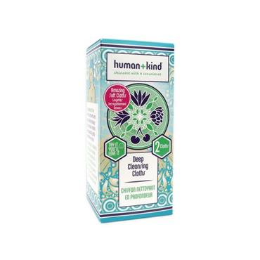 Human + Kind Deep Cleansing Cloth 2 Pack