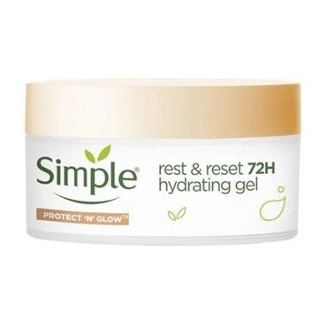 Simple Protect 'n' Glow Rest & Reset 72h hydrating gel 50ml