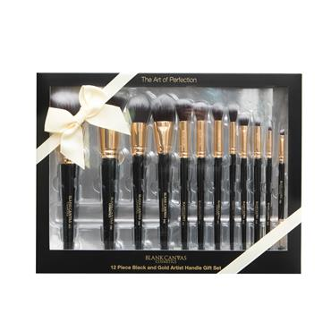 Blank Canvas 12 Piece Black And Gold Artist Handle Gift Set