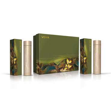 Voya Gift Set for Hair: Silky By Nature, Forget Me Knot 2 x 200ml