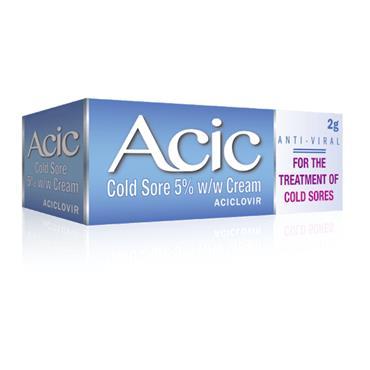 Acic 5% Cream Cold Sore Treatment