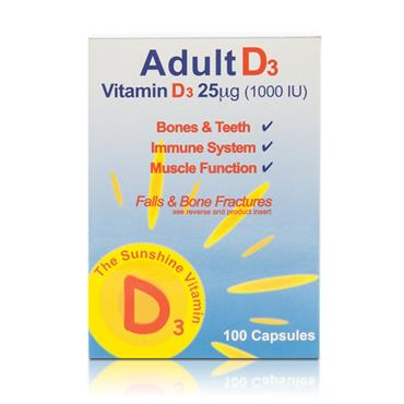 Shield Adult D3 (1000iu) 100 Capsules