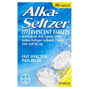 Alka Seltzer Lemon Pain Relief 10 Tablets