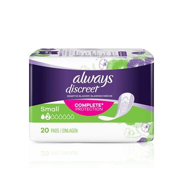 Always Discreet Incontinence Pads Small 20 Pack