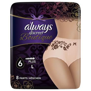 Always Discreet Boutique Incontinence Pants Large 8 Pack
