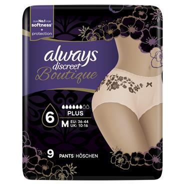 Always Discreet Boutique Underwear Incontinence Pants 9 Pack