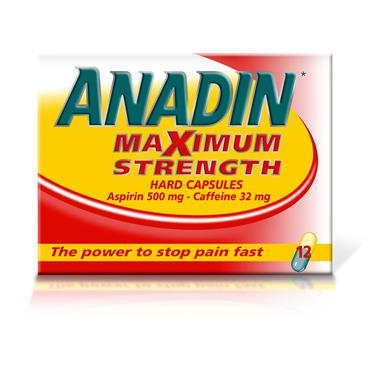 Anadin Maximum Strength Capsules 12 Pack