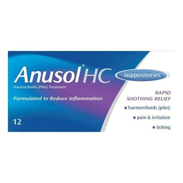 Anusol HC Suppositories 12 Pack
