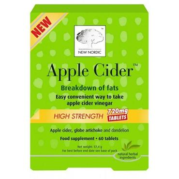 New Nordic Apple Cider High Strength 60 Tablets