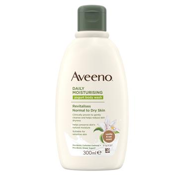 Aveeno Daily Moisturising Yogurt Body Wash Vanilla & Oat 300ml