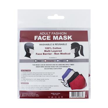 PPE Reusable Cotton Multi Layered Face Mask