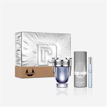 Paco Rabanne Invictus 100ml Eau de Toilette + 10ml Eau De Toilette + 150ml Deodorant Spray Gift Set