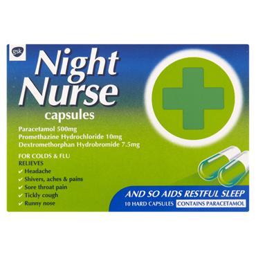 Beechams Night Nurse Capsules 10 Hard Capsules